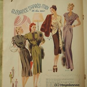Päivä- ja ilteleganssia vuodelta 1947