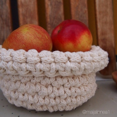 Crocheted basket/ virkattu kori