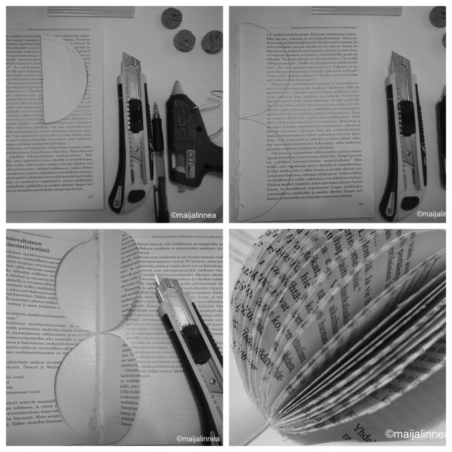 Askartele pallo vanhasta kirjasta